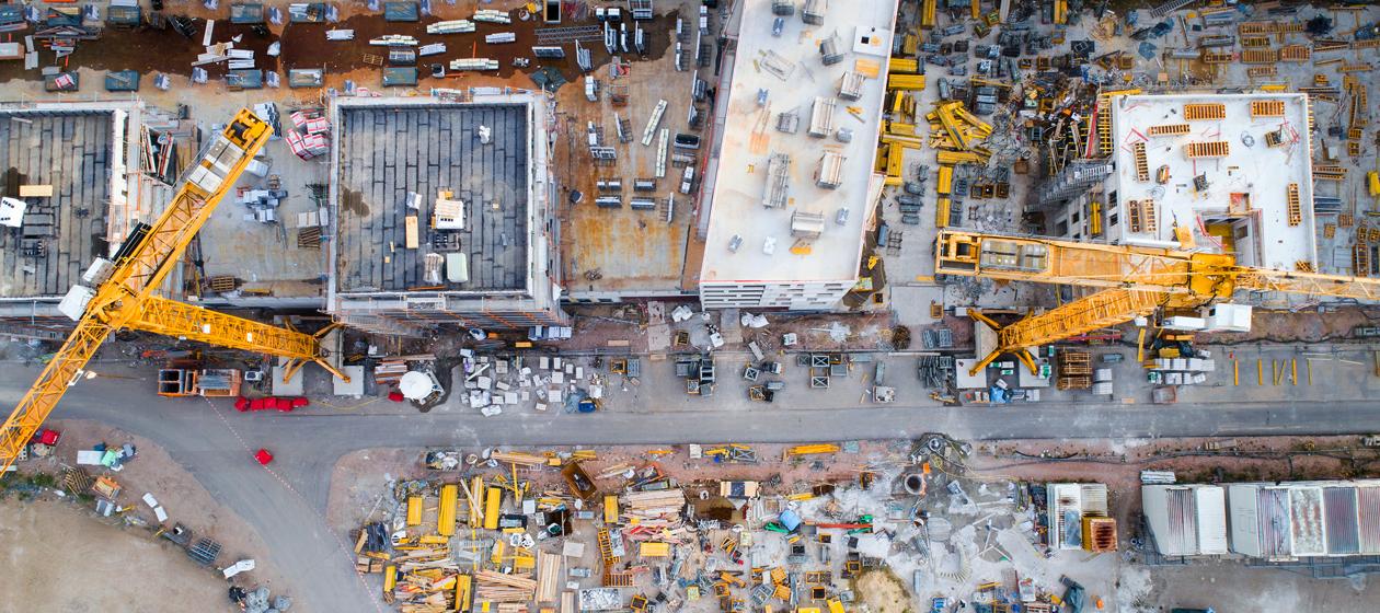 Baustelle von oben