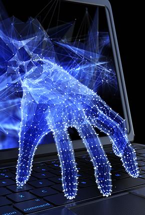 hand aus computer