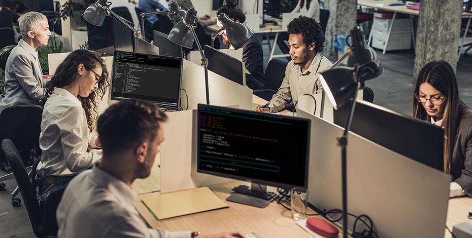Zusammenarbeit im Office