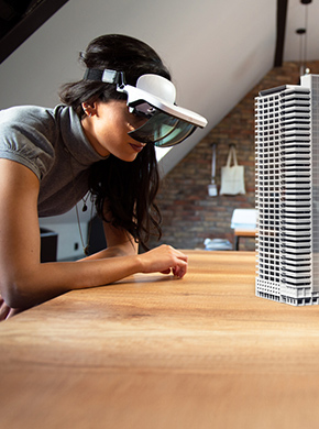 Menschen mit VR Brille