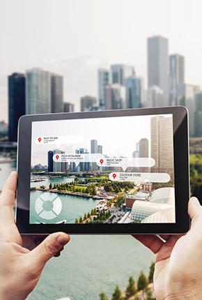 5G Tourismus im Tablet