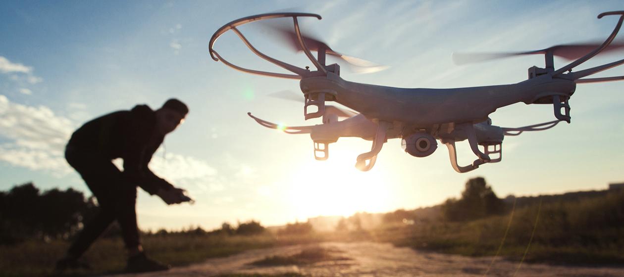 Drohne hebt ab