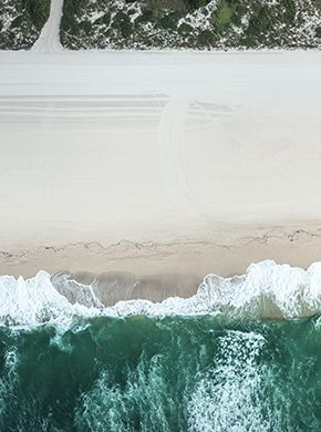 Drohnenfoto Strand