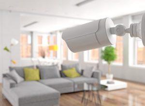 Wohnzimmer mit Überwachung