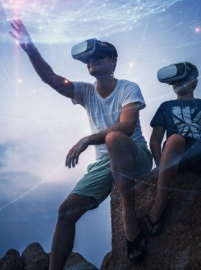 Kinder mit VR