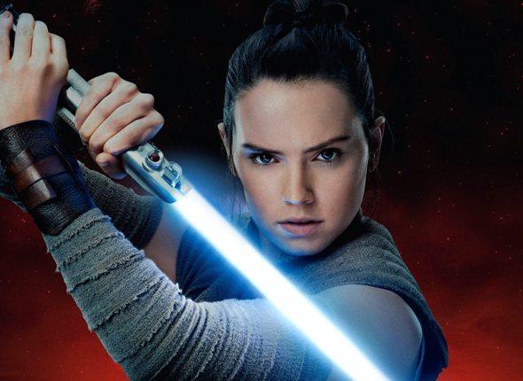 Frau mit Lichtschwert