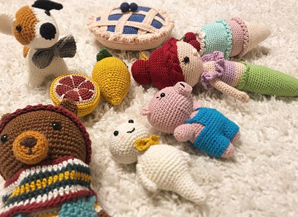 gehäkelte Puppen