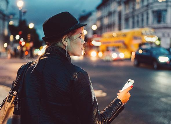 Frau Taxi-App